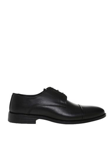 Fabrika Fabrika Erkek Koyu Siyah Klasik Ayakkabı Siyah